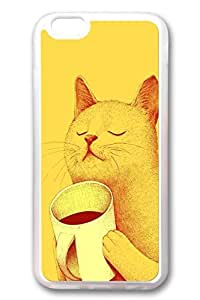 iPhone 6 Cases, Personalized Protective Soft Rubber TPU Clear Case Cover for New iPhone 6 4.7 inch Yellow Mao