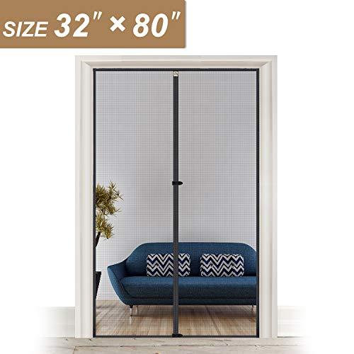Magnetic Screen Door 32 Inch, Yotache High Density Mosquito Mesh for Door Size 32