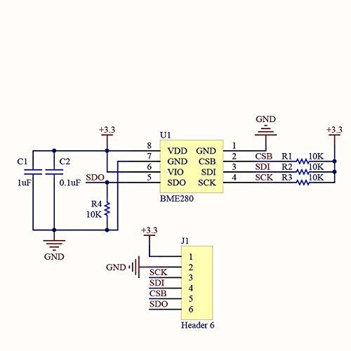 hiletgo BME280 presión atmosférica Sensor Temperatura Sensor ... on