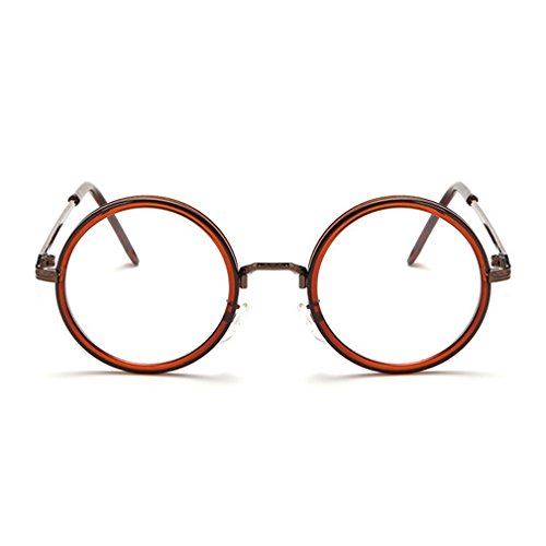 G&T Men's and Women's Fashion Glasses Round Frame Anti Blue Retro - Order Eyeglasses How To Prescription Online