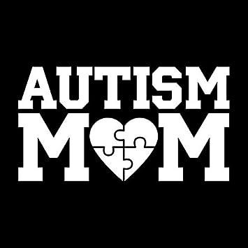 proud mom autism love decal vinyl  car decal