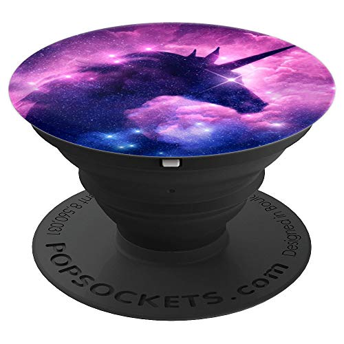 Dreamy Unicorn Popsocket Pink Clouds Galaxy Starry Sky Pop - PopSockets Grip and Stand for Phones and Tablets