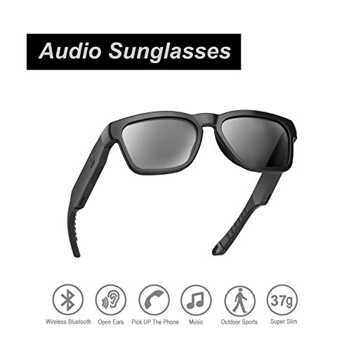 Audio Sunglasses, Fashionable Bluetooth Sunglasses to Listen Music and Make Phone Calls,UV400 Polarized Lens and Compatible with Prescription Lens