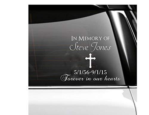(In Memory of Car Decal Memorial)