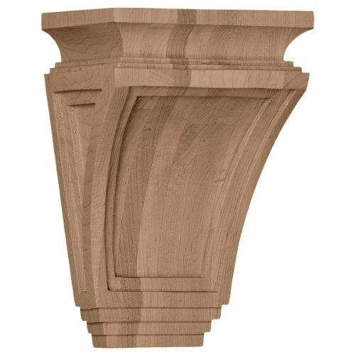 Ekena Millwork COR06X04X09ARRO 6-Inch W x 4-Inch D x 9-Inch H Arts and Crafts Corbel, Red Oak ()
