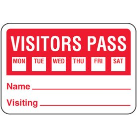 Paper Visitor Pass Badges - 2