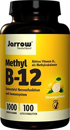 Jarrow Formulas Methylcobalamin (Methyl B12), Supports Brain Cells and Nerve Tissue, 1000 mcg, 100 - Lozenges B-12