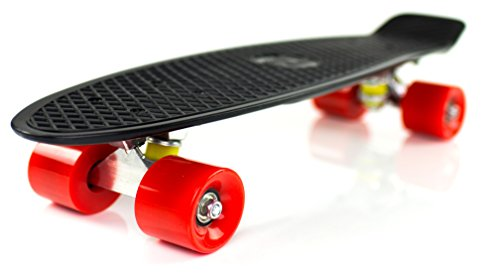 Boss Board Complete Vintage Skateboard Color: Revolution (Black Deck with Red Wheels)