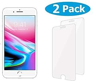 TheCoos [2-Pack] iPhone 8 Plus 7 Plus Screen Protector, Tempered Glass Screen Protector For Apple iPhone 8 Plus 7 Plus 6s Plus 6 Plus