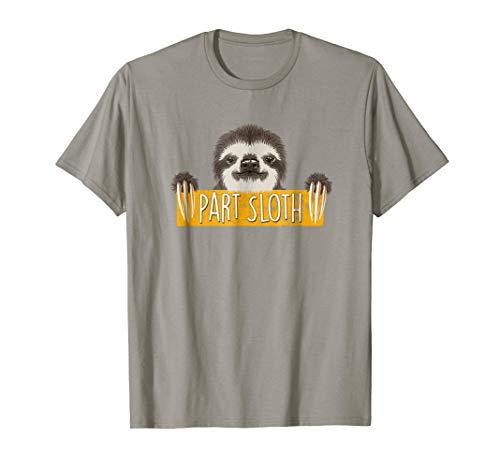Part Sloth T Shirt - Funny Cute Sloth Face Shirt