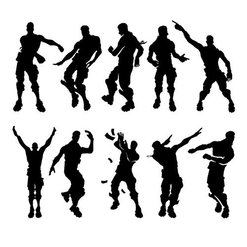 Youyouyu Game Wall Decal Poster Dancing Wall Stickers Murals for Boys Bedroom Home Decor (18.5