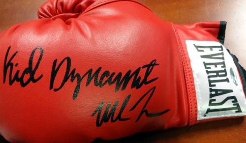 "Mike Tyson Autographed Red Everlast Boxing Glove""Kid Dynamite"" LH Stock #73131 Tristar Productions Certified"