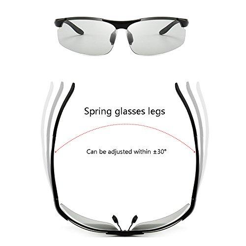 las color de gafas de de aluminio aviación del sol SSSX de GYYTYJ de decoloración aviación de Color Gun los magnesio Gun de de conducen hombres los deportes la Gafas la Color sol 71CPv6qC