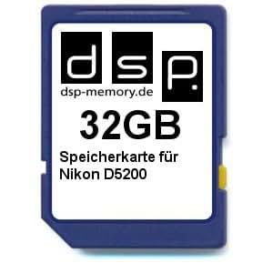 Tarjeta de memoria de 32 GB para Nikon D5200