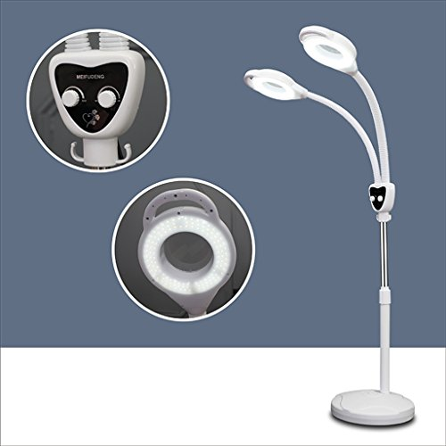 Floor lamps 8X New Folding LDD Magnifying Glass Reading Light Beauty Tattoo Professional Lights Fill Light (Edition : No Pulley) -
