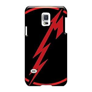 Excellent Hard Phone Cover For Samsung Galaxy S5 Mini (anF678VvxR) Unique Design Colorful Metallica Band Image