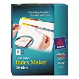 Index Maker Divider w/Multicolor Tabs, 8-Tab, Letter, 25 Sets/Box, Sold as 25 Set