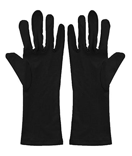 Spandex Unisex Glove (Sheface Spandex Wrist Length Short Gloves Costume Accessory (One Size, Black))
