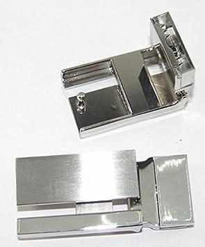 1 Gürtelschnalle Klemmschnalle 3,9 cm silber 03.03//777