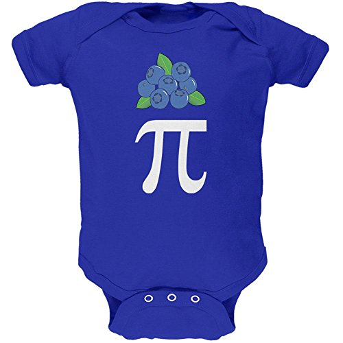 Halloween Math Pi Costume Blueberry Day Soft Baby One Piece Royal 0-3 M - Pi Day Costumes