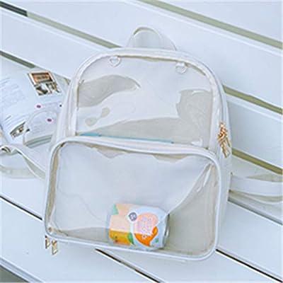 Ita Bags Backpack Girls Rucksack Cute Summer Beach Bag Transparent Windows for DIY Decors, Off White: Shoes