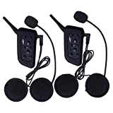 2 Sets Vnetphone V6 BT Intercom Bluetooth Interphone 1200M Range 6 Riders Motorcycle Helmet - Motorcycle Snowmobile Multi Interphone Headsets 6 Riders. Great for Skiing and Riding