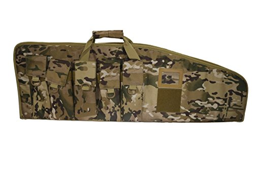 42 Inch AR15/M4 Tactical Rifle Case with Five Magazine Pouches 12131 (Multicam, 42)