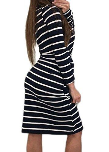 Dresses Women Dress Oblique Pencil Longline Striped Straps white Black Coolred HC0qvv