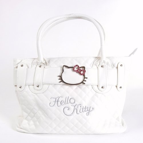 Hello Kitty Handbag Tote Shoulder Hand Bag White, Bags Central