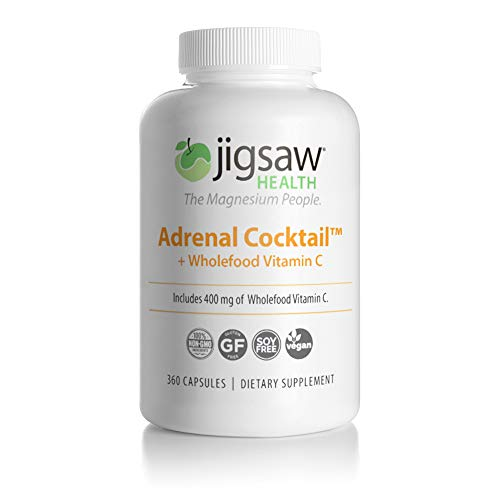 Jigsaw Health Adrenal Cocktail Capsules with Wholefood Vitamin C, Potasium, and Redmon