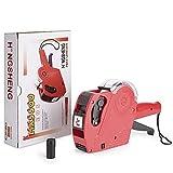 Price Tag Gun,Hangang 8 Digits Price Numerical Tag Gun,Label Printers,Makers Labeler Price Gun,