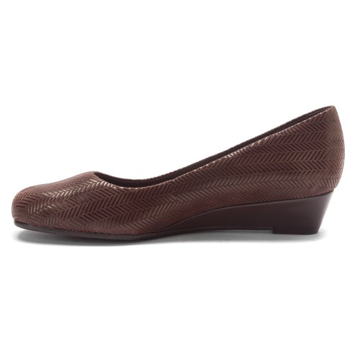 Women's Wedge Suede Patent Lauren Dress Trotters Brown Zwqf1Zd