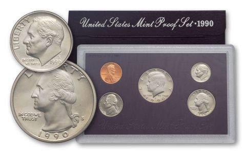 1990 United States Mint Proof Set Original Government Packaging Superb Gem Uncirculated