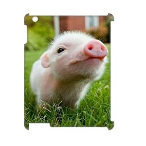 Cute Piggy Custom 3D Plastic Case for iPad2,3,4 by Nickcase