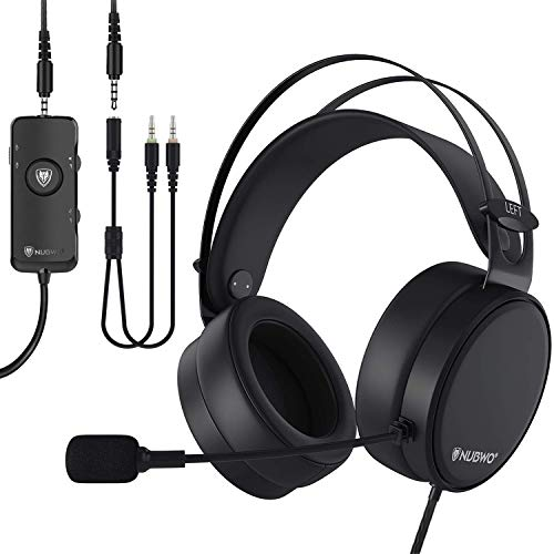 NUBWO-N7 PS4 Xbox one Headset 7.1 Surround Sound PC USB Gaming Headset with Noise Reduction Mic, Over Ear Headphones with Game&Chat Volume Controls for PC/Playstation 4/Xbox 1