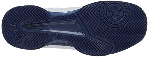 adidas Men's Barricade Club Tennis Shoes, White/Tech Mystery Blue, (12 M US)