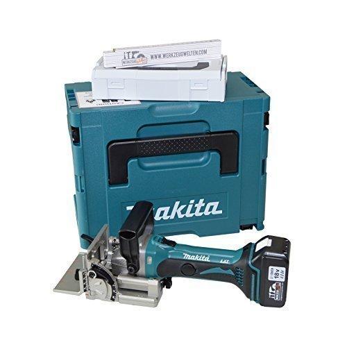 Makita Akku-Nutfräse DPJ180Z / DPJ180 mit 1 wzw-Akku 4,0ah + Koffer