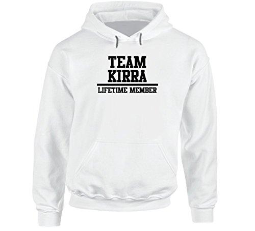 Team Kirra Lifetime Member Family Name Parody Hoodie M White - Kirra Hoodie
