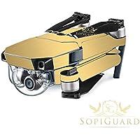 SopiGuard Brushed Gold Precision Edge-to-Edge Coverage Vinyl Skin Controller Battery Wrap for DJI Mavic Pro