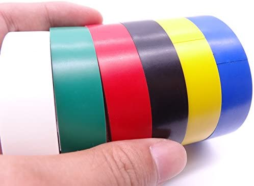 7 Pack Electrical Tape Mixed Colors Adhesive Gaffer PVC Tapes 10m x 16mm