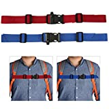 TBoxBo 4 Pack Adjustable Backpack Chest Strap Chest Harness with Buckle Adjustable Universal for Hiking and Jogging