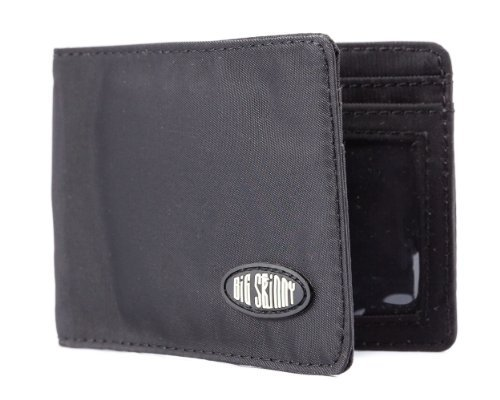 Big Skinny Men's Acrobat Money Clip Slim Wallet, Holds Up to 20 Cards, Black