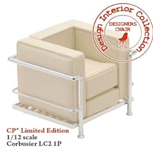 Mid Century Modern Design Miniature 1/12 Grand Confort Le Corbusier Armchair-white
