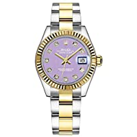 Rolex Lady-Datejust 28 Lavender Dial Yellow Rolesor Women's Watch 279173