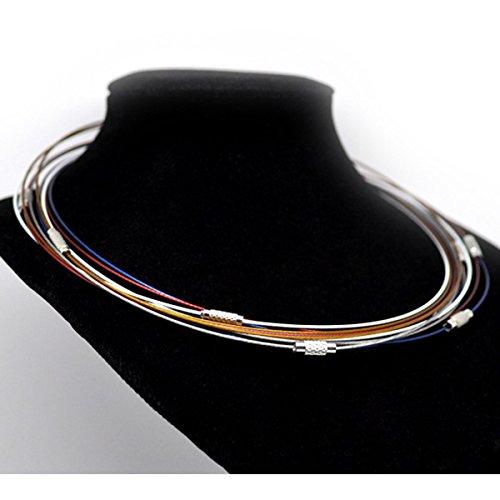 Housweety Bijoux 10 Mixte Collier Fil Fermoir a vis 45.72 cm