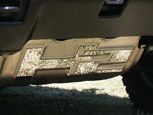 QAA FITS H2 2003-2009 HUMMER (2 Pc: Stainless Steel Brush Plate Accent Trim, SUV) HV43011 ()