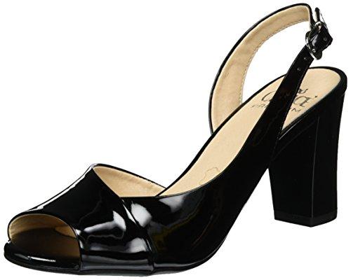 Patent Sandales Caprice Noir Black 28304 Ouvert Bout Femme Noir 7a8qFanxw
