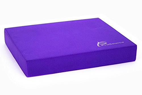 ProSource ps-1038-bp-r-purple Exercise Balance Pad - Non-Slip Cushioned Foam Mat & KNEE Pad for Fitness & Stability Training, Yoga, Physical Therapy 15.5' x 12.5', Purple