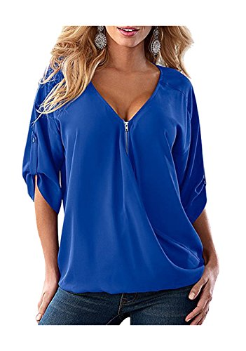 womens-plus-size-shirts-and-blouses-blue-4xl-summer-tops