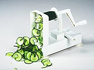 Veggie Spiralizer - Best Vegetable Maker, Spiral Slicer, Terrine Maker and Shredder You'll Ever Use! (4 Blade)